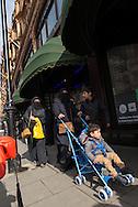 Veiled women near Harrods, Knightsbridge, London.