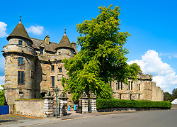 Exterior of Falkland Palace in Falkland, Fife, Scotland, UK