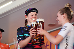 Lisa Klein (GER) toasts with her breakaway companions at Lotto Thüringen Ladies Tour 2019 - Stage 4, a 114.8 km road race in Gotha, Germany on May 31, 2019. Photo by Sean Robinson/velofocus.com