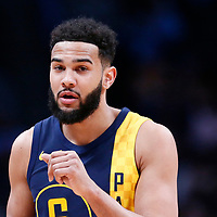 03 April 2018: Indiana Pacers guard Cory Joseph (6) is seen during the Denver Nuggets 107-104 victory over the Indiana Pacers, at the Pepsi Center, Denver, Colorado, USA.