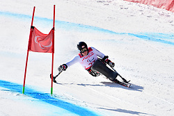 LOESCH Claudia LW11 AUT competing in ParaSkiAlpin, Para Alpine Skiing, Super G at PyeongChang2018 Winter Paralympic Games, South Korea.