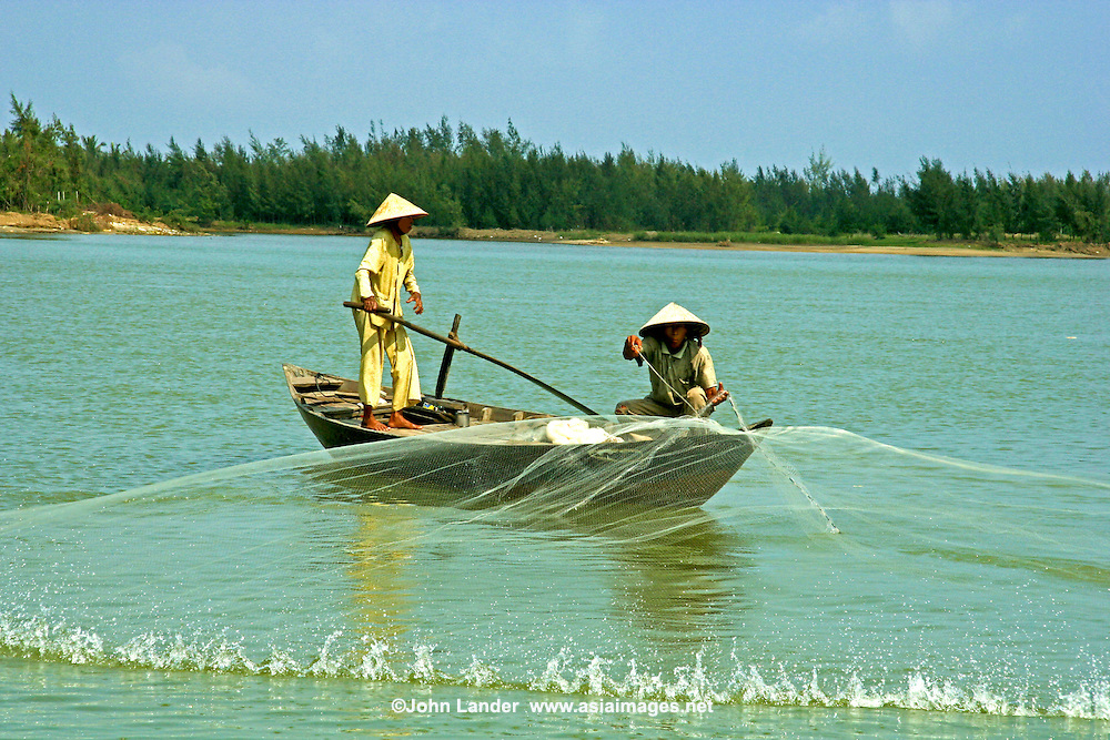 Net Fishing on the Thu Bon River which runs right through Hoi An and has its share of natural as well as man-made beauty.