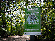 Signage in Central Park: The Ramble