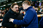 Norwich City Head Coach Daniel Farke Brentford Manager Dean Smith during the EFL Sky Bet Championship match between Norwich City and Brentford at Carrow Road, Norwich, England on 22 December 2017. Photo by Phil Chaplin.
