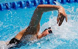 Katja Hajdinjak at swimming competition of EYOF 2007 (European Youth Olympic Festival) in Belgrade, 21. - 28. July 2007,  Tasmajdan pool, Belgrade, Serbia. (Photo by Vid Ponikvar / Sportida)