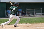 West Deptford's Chris Dillaquilla gets on base due to a Pennsylvania error on the hit during a elimination bracket game of the Eastern Regional Senior League tournament held in West Deptford on Monday, August 8.