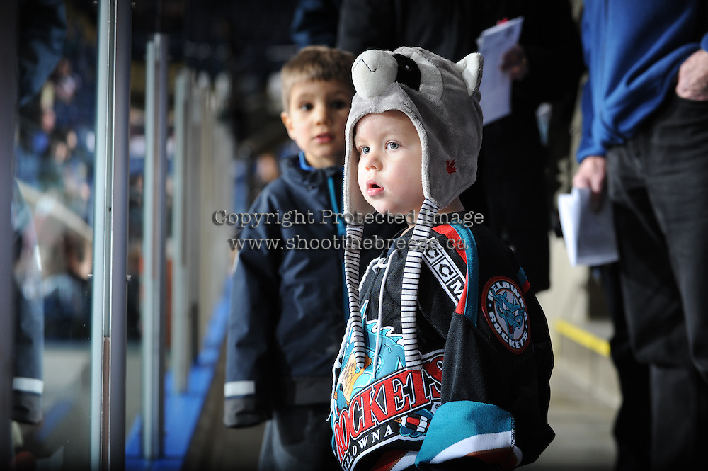 KELOWNA, CANADA - FEBRUARY 18:  Red Deer Rebels at the Kelowna Rockets on February 18, 2012 at Prospera Place in Kelowna, British Columbia, Canada (Photo by Marissa Baecker/Shoot the Breeze) *** Local Caption ***