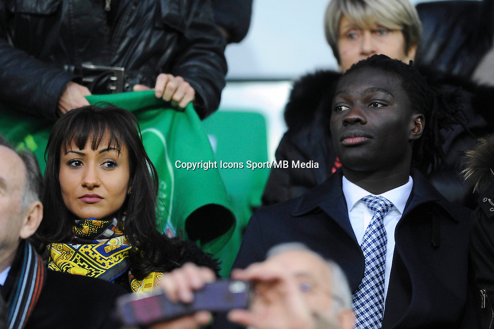 Bafetimbi GOMIS avec sa femme  - 21.12.2014 - Saint Etienne / Evian Thonon - 19eme journee de Ligue 1<br /> Photo : Jean Paul Thomas / Icon Sport