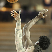 Delaware 87ers Center JORDAN RAILEY (32) wins the tip off in the first half of a NBA D-league regular season basketball game between the Delaware 87ers and the Raptors 905 Friday, Jan. 15, 2016. at The Bob Carpenter Sports Convocation Center in Newark, DEL.