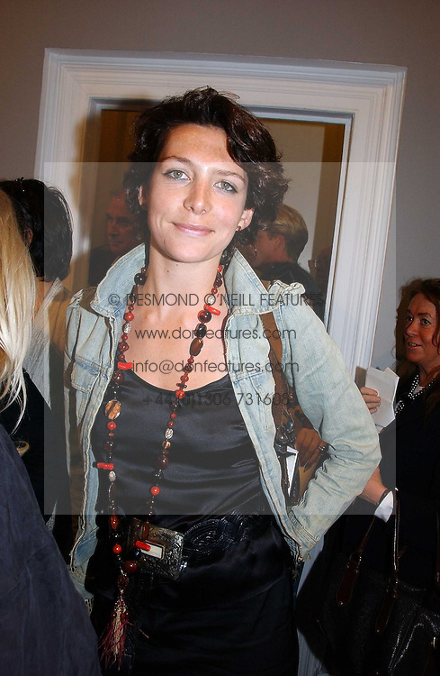 Chef THOMASINA MIERS at an exhibition of photographs by the late Robert Mapplethorpe at the Alison Jacques Gallery, 4 Clifford Street, London W1 on 7th September 2006.<br />