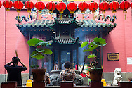 "Jade Emperor Pagoda was built by the Chinese community in Saigon.. It is also known as the ""Luck Sea Temple"" as well as ""the Tortoise Pagoda"".   Jade Emperor Pagoda is easily Saigon's most atmospheric.  The Jade Emperor Pagoda guards the entrance to heaven deciding who gets in.  The Jade Emperor's two cohorts, one with a lamp and the other with an axe are there to guide you in the right direction. There are also other deities here: including a fertility goddess, Lord of Hell and even Buddha of the future.  The entire collection is an amalgam of Buddhist, Taoist and Confucian beliefs."