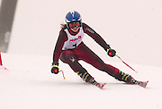 Second overall in the girls slalom individual competition, Katie Bramble of Manistee makes her second of two giant slalom runs at Boyne Highlands Resort in Harbor Springs at the Division 2 State Ski Finals.