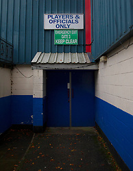 General view of the Crown Oil Arena on a very wet day in Rochdale - Mandatory by-line: Jack Phillips/JMP - 02/11/2019 - FOOTBALL - Crown Oil Arena - Rochdale, England - Rochdale v Bristol Rovers - English Football League One