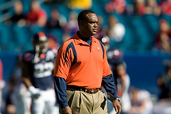 Virginia defensive coordinator Mike London.  The Texas Tech Red Raiders defeated the Virginia Cavaliers 31-28 in the 2008 Konica Menolta Gator Bowl held at the Jacksonville Municipal Stadium in Jacksonville, FL on January 1, 2008.