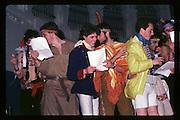 John Stonehouse, Richard Bott, Hughie Scott, Donny Dagganhuot, Jeremy Howard, Satgen Mehta, and Justin Byan Shaw at Piers Gaveston Ball. Oxford town hall. 1981 approx.© Copyright Photograph by Dafydd Jones 66 Stockwell Park Rd. London SW9 0DA Tel 020 7733 0108 www.dafjones.com