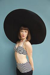 Teenage Girl Wearing Wide Brim Hat