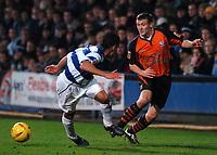Credit: Back Page Images / Matthew Impey. Queens Park Rangers v Ipswich Town, The Championship, 11/12/2004. Adam Westlake (Ipswich) Marcus Bignot (QPR)