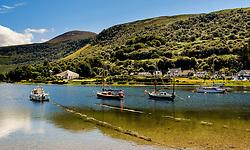 Yachts anchored off Lochranza, Isle of Arran, Scotland<br /> <br /> (c) Andrew Wilson | Edinburgh Elite media