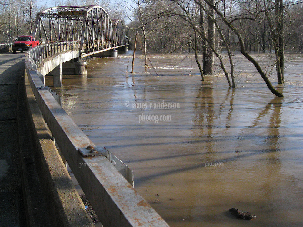 100 Year Flood of the Big Piney River at Old US Route 66 near Devils Elbow, MO on 19 March 2008