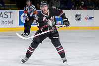 KELOWNA, CANADA -FEBRUARY 5: Nick Charif D #3 of the Red Deer Rebels skates against the Kelowna Rockets on February 5, 2014 at Prospera Place in Kelowna, British Columbia, Canada.   (Photo by Marissa Baecker/Getty Images)  *** Local Caption *** Nick Charif;