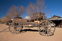 Wagon and Old Western Building, Pioneertown, California