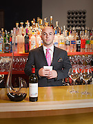 Tom Kisthart, sommelier, photographed at Sidebern's wine shop.