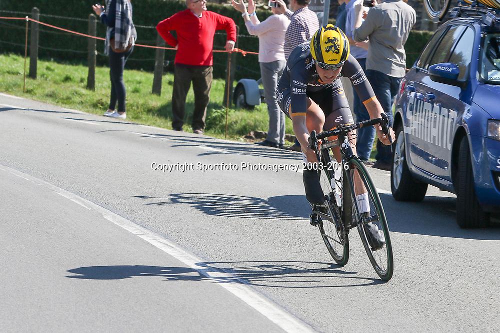 03-04-2016: Wielrennen: Ronde van Vlaanderen vrouwen: Oudenaarde  <br />OUDENAARDE (BEL) cycling  The sixth race in the UCI Womensworldtour is the ronde van Vlaanderen. A race over the famous Flemish climbs. Elisa Longo Borghini