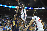 Ole Miss' Murphy Holloway (31) vs. La Salle's Ramon Galloway (55) in the Round of 32 of the NCAA Tournament at the Sprint Center in Kansas City, Mo. on Sunday, March 24, 2013. La Salle won 76-74.