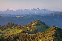 North Cascades seen from Skyline Divide, Mount Baker Wilderness Washington