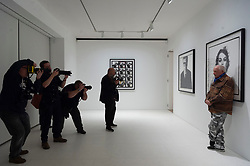 © Licensed to London News Pictures. 14/02/2019. London, UK. British photographer attends his exhibition of his iconic 60s portrait photographs showing at the Gagosian Davies St Gallery. Photo credit: Ray Tang/LNP