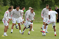 Photo: Paul Thomas.<br /> England Training Session. 01/06/2006.<br /> <br /> Michael Owen, Frank Lampard, David Beckham, Steven Gerrard and Ashley Cole.