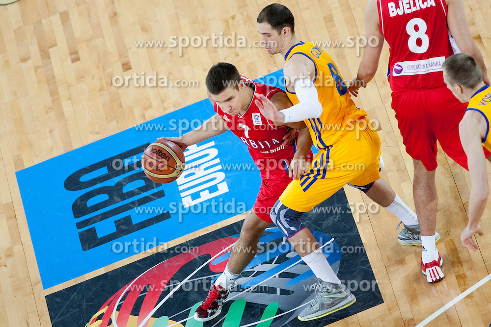 Bogdan Bogdanovic #7 of Serbia during basketball match between National teams of Serbia and Ukraine in 2nd Round at Day 10 of Eurobasket 2013 on September 13, 2013 in SRC Stozice, Ljubljana, Slovenia. (Photo By Urban Urbanc / Sportida)