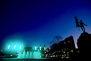 Belo Horizonte_MG, 2005...Praca da Estacao em Belo Horizonte a noite...Estacao square in Belo Horizonte at night...FOTO: LEO DRUMOND / NITRO