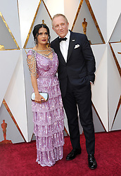 Salma Hayek and Francois-Henri Pinault at the 90th Annual Academy Awards held at the Dolby Theatre in Hollywood, USA on March 4, 2018.