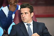 Everton manager Marco Silva during the Premier League match between Aston Villa and Everton at Villa Park, Birmingham, England on 23 August 2019.