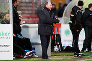 Cheltenham Town FC manager Gary Johnson during the Vanarama National League match between Cheltenham Town and Altrincham at Whaddon Road, Cheltenham, England on 19 December 2015. Photo by Carl Hewlett.
