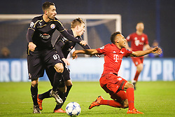 Julian Green #37 of FC Bayern Munchen vs Jeremy Taravel #87 of GNK Dinamo Zagreb during football match between GNK Dinamo Zagreb and Bayern München in Group F of Group Stage of UEFA Champions League 2015/16, on December 9, 2015 in Stadium Maksimir, Zagreb, Croatia. Photo by Ziga Zupan / Sportida