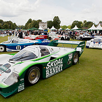 #33 Porsche 956B-114 - Factory-built car in identical spec to works Rothmans car, replete with fetching green Skoal-Bandit podium-winning livery (Salon Privé, London 24 June 2011)