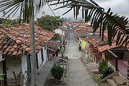 Salento, Quind&iacute;o, Colombia - 05.09.2016        <br /> <br /> Impression of the Colombian coffee region. The small village Salento, in the central range of the Colombian Andes Mountains,  is a popular tourist spot, also because it has reserved the traditional architecture of the coffee area.<br /> <br /> Eindruecke aus der kolumbianische Kaffeeanbauregion. Das kleine Dorf Salento, in der Zentralkordillere der kolumbianischen Anden, lockt zahlreiche Touristen an, auch weil es die traditionelle Architektur der Region bewahrt hat. <br /> <br /> Photo: Bjoern Kietzmann