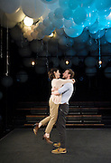 Constellations<br /> by Nick Payne<br /> at The Royal Court Theatre, London, Great Britain <br /> press photocall<br /> 18th January 2012<br /> <br /> Sally Hawkins (as Marianne)<br /> Rafe Spall (as Roland)<br /> <br /> directed by Michael Longhurst<br /> <br /> Photograph by Elliott Franks