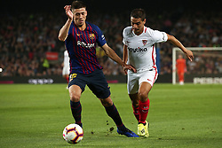 October 20, 2018 - Barcelona, Catalonia, Spain - Ben Yedder and Lenglet during the match between FC Barcelona and Sevilla CF, corresponding to the week 9 of the Liga Santander, played at the Camp Nou, on 20th October 2018, in Barcelona, Spain. (Credit Image: © Joan Valls/NurPhoto via ZUMA Press)
