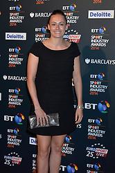 Pictured is Hayley Turner.<br /> <br /> BT Sport Industry Awards 2014 at Battersea Evolution, London, UK.<br /> <br /> Thursday, 8th May 2014. Picture by Ben Stevens / i-Images