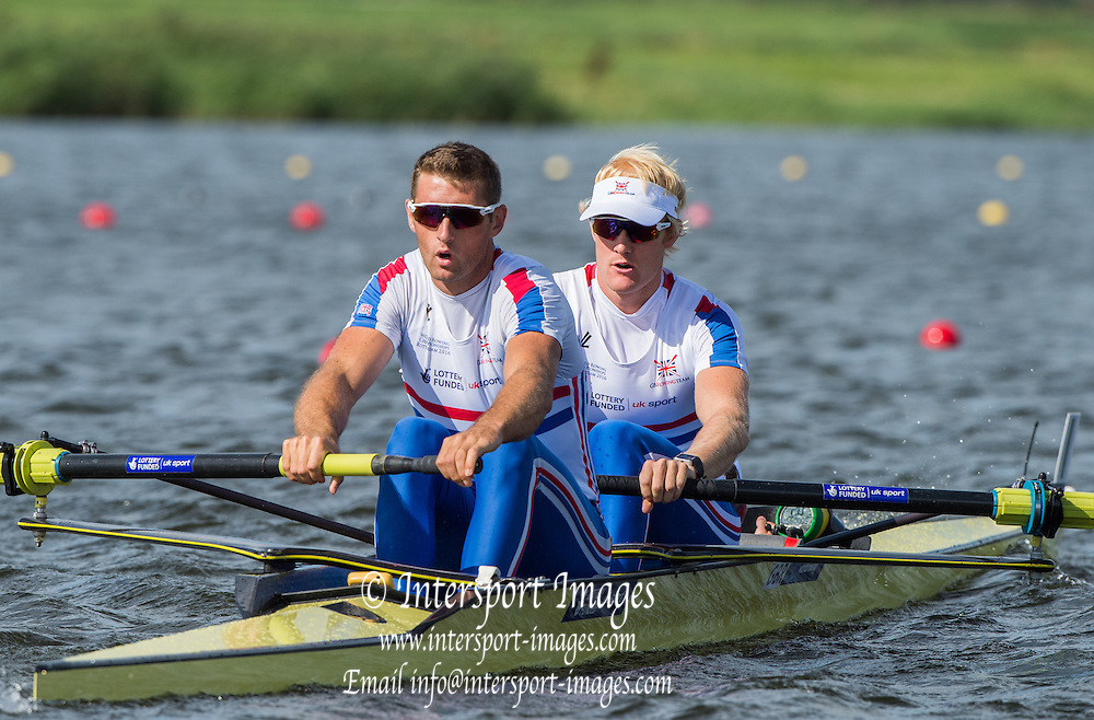 Rotterdam. Netherlands. GBR M2+ Bow. Oliver Cook, Callum McBrierty and Henry Fieldman (cox) 2016 JWRC, U23 and Non Olympic Regatta. {WRCH2016} at the Willem-Alexander Baan.   Monday  22/08/2016 <br /> <br /> [Mandatory Credit; Peter SPURRIER/Intersport Images]