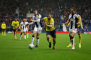 Blackburn Rovers midfielder Craig Conway (32) pounces on the loose ball during the EFL Sky Bet Championship match between West Bromwich Albion and Blackburn Rovers at The Hawthorns, West Bromwich, England on 27 October 2018.
