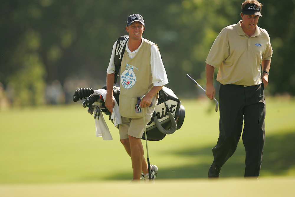 "Phil Mickelson.Jim ""Bones"" McKay..2004 Colonial Invitational.Second Round.Colnial Country Club.Fort Worth, Texas.Friday, May 21 2004.photograph by Darren Carroll"