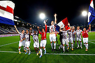 Onderwerp/Subject: Willem II - Jupiler League<br /> Reklame:  <br /> Club/Team/Country: <br /> Seizoen/Season: 2013/2014<br /> FOTO/PHOTO: F.L.T.R: Ricardo IPPEL of Willem II and Bruno ANDRADE ( Bruno Fernandes ANDRADE DE BRITO ) of Willem II and Terell ONDAAN of Willem II and Renan ZANELLI of Willem II and Freek HEERKENS of Willem II and Goalkeeper Ruud SWINKELS of Willem II and Niek VOSSEBELT of Willem II and Ruud BOYMANS of Willem II and Tim CORNELISSE of Willem II and Justin MATHIEU of Willem II  celebrating victory after the match ( 2 - 0 ). (Photo by PICS UNITED)<br /> <br /> Trefwoorden/Keywords: <br /> #02 #18 $94 &plusmn;1372506528100<br /> Photo- &amp; Copyrights &copy; PICS UNITED <br /> P.O. Box 7164 - 5605 BE  EINDHOVEN (THE NETHERLANDS) <br /> Phone +31 (0)40 296 28 00 <br /> Fax +31 (0) 40 248 47 43 <br /> http://www.pics-united.com <br /> e-mail : sales@pics-united.com (If you would like to raise any issues regarding any aspects of products / service of PICS UNITED) or <br /> e-mail : sales@pics-united.com   <br /> <br /> ATTENTIE: <br /> Publicatie ook bij aanbieding door derden is slechts toegestaan na verkregen toestemming van Pics United. <br /> VOLLEDIGE NAAMSVERMELDING IS VERPLICHT! (&copy; PICS UNITED/Naam Fotograaf, zie veld 4 van de bestandsinfo 'credits') <br /> ATTENTION:  <br /> &copy; Pics United. Reproduction/publication of this photo by any parties is only permitted after authorisation is sought and obtained from  PICS UNITED- THE NETHERLANDS