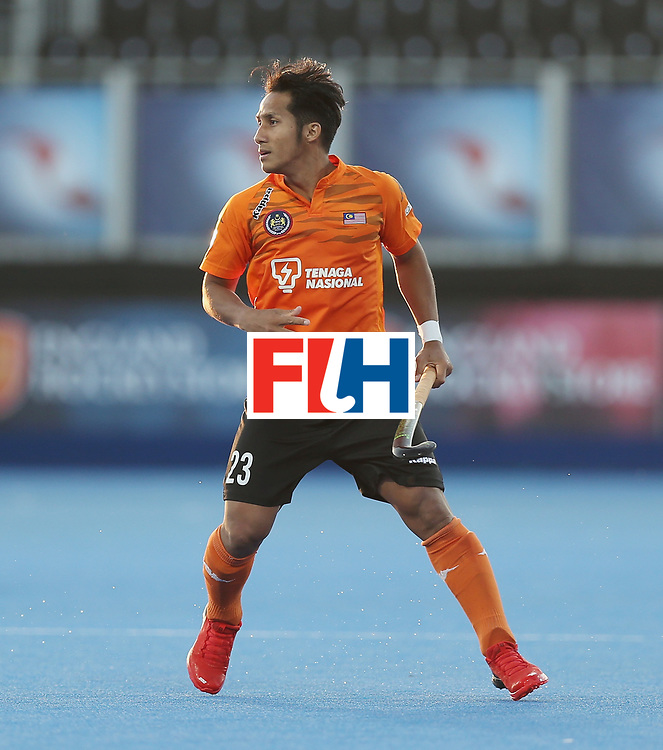 LONDON, ENGLAND - JUNE 16:  Tengku Ahmad of Malaysia during the Hero Hockey World League semi final match between Argentina and Malaysia at Lee Valley Hockey and Tennis Centre on June 16, 2017 in London, England.  (Photo by Alex Morton/Getty Images)