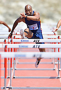 CAPE TOWN, SOUTH AFRICA - Saturday 27 February 2016, Antonio Alkana, South African and African champion, in the mens 110m hurdles during the Western Province Athletics League Track and Field athletic meeting at the Parow Athletics Stadium. <br /> Photo by Roger Sedres/ImageSA
