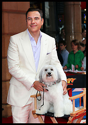 Image licensed to i-Images Picture Agency. 13/07/2014. London, United Kingdom. David Walliams with Pudsey at the World premiere of Pudsey The Dog : The Movie in London. David is Pudsey's voice in the film. Picture by Stephen Lock / i-Images