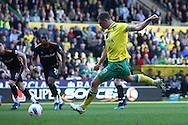 Picture by Paul Chesterton/Focus Images Ltd.  07904 640267.24/03/12.Grant Holt of Norwich scores his sides 2nd goal from the penalty spot and celebrates during the Barclays Premier League match at Carrow Road Stadium, Norwich.
